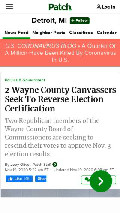 Frame #9 - patch.com/michigan/detroit/2-wayne-county-canvassers-seek-reverse-election-certification
