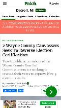 Frame #10 - patch.com/michigan/detroit/2-wayne-county-canvassers-seek-reverse-election-certification
