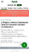 Frame #2 - patch.com/michigan/detroit/2-wayne-county-canvassers-seek-reverse-election-certification
