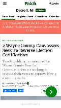 Frame #7 - patch.com/michigan/detroit/2-wayne-county-canvassers-seek-reverse-election-certification