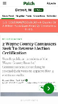 Frame #6 - patch.com/michigan/detroit/2-wayne-county-canvassers-seek-reverse-election-certification